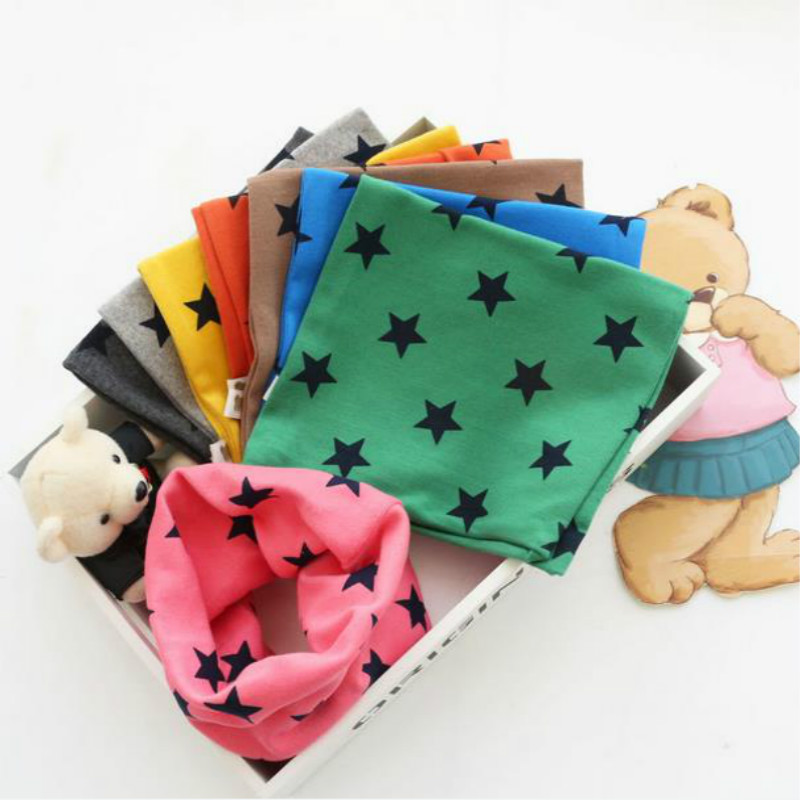 Spring Autumn Winter Cute Toddlers Kids Girls Boys Snood Winter Scarf Stars Decor Scarves Baby Neckerchief