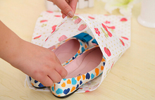 Portable travel drawstring shoe bag thickening print non-woven shoes storage bag and dust bag Free shipping