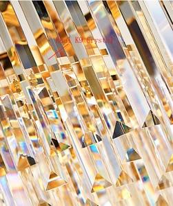 Image 5 - Phube Lighting Gold Crystal Ceiling Light Luxury Modern Bedroom LED Lustres De Cristal Home Indoor Lighting Fixtures