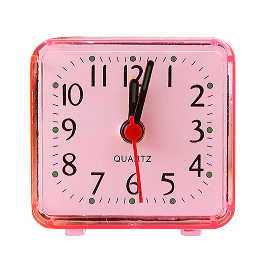 Square Small Bed Compact Travel Quartz Beep Alarm Clock Cute Portable no ticking to ensure a good sleeping drop shipping m16