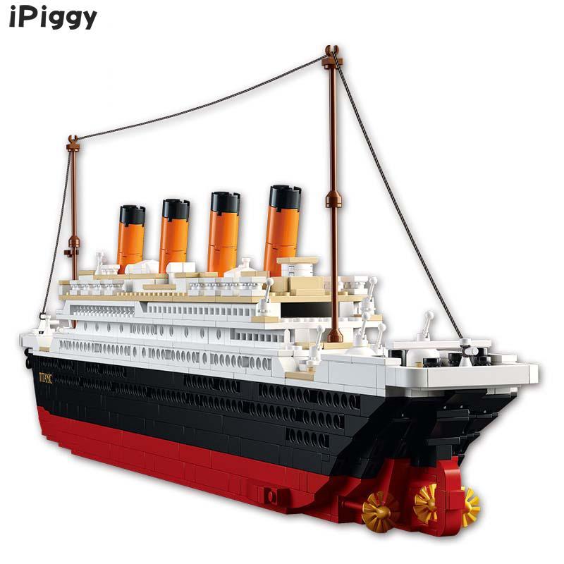 Bloques 3D Titanic Rms barco juguetes educativos modelo bloques de construcción Kits compatibles con la famosa ciudad de la marca para regalo de niños-in Kits de construcción de maquetas from Juguetes y pasatiempos    1