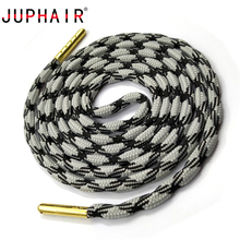 JUPHAIR New Cheap Thick Round Shoelaces Gold Metal Tip Polyester Strong Athletic Sports Climbing Shoe Laces Dia 0.5cm
