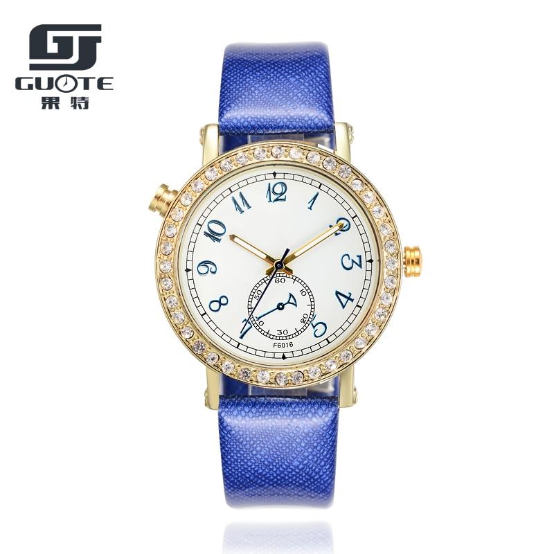 Fashion Genuine Leather Women Elegant Quartz Watch 2020 Luxury GUOTE Brand Ladies Dress Clock Montre Feminine Gift Saat Erkek