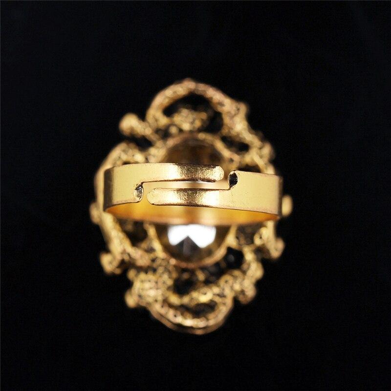 Antike Bronze Vintage Gold Farbe Grün Kristall Stein Strass - Modeschmuck - Foto 6