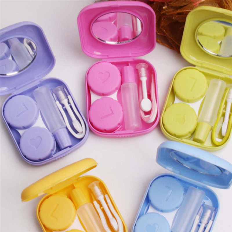 Case-Box Mirror-Container Travel-Kit Contact-Lens Easy Mini Popular Square Carry