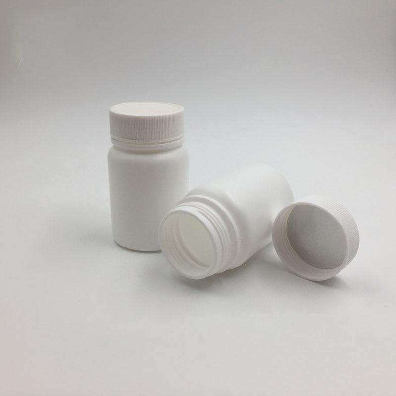 60cc HDPE Round Pill Bottle 60g Capsules Container Screw Caps (3)