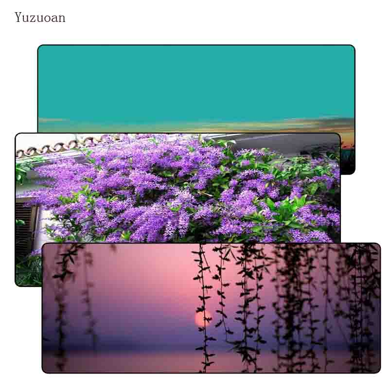Yuzuoan Free Shipping Landscapes vines 900*400*3MM Large Lock Edge Mousepad Computer Des ...