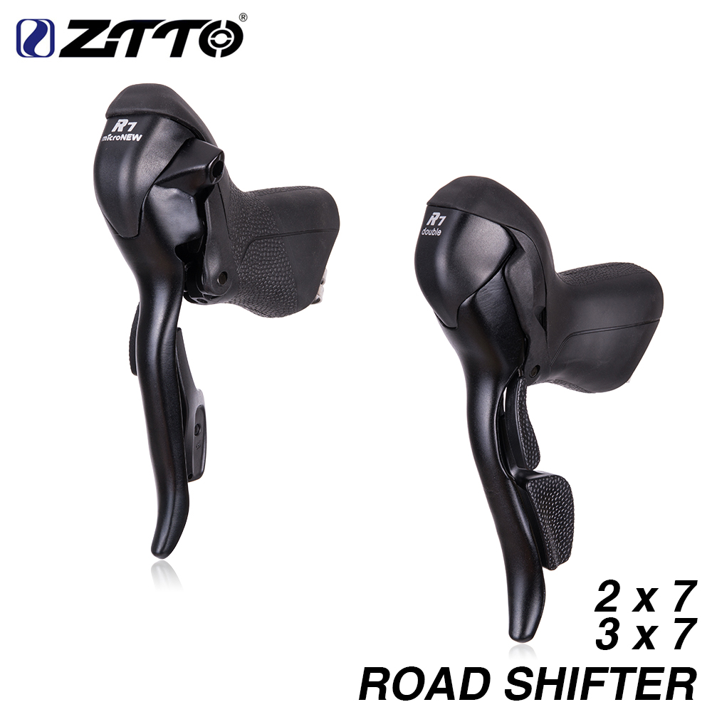 MICRONEW Road Bike 2*7 3*7 Shifter Set Double 7Speed 7s 14s 21s Brake Levers bicycle parts FOR parts R472 R473 sir472dp t1 ge3 r472