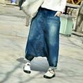 Бесплатная Доставка 2017 Новая Мода Длинные Брюки Женщины Свободные Брюки Весна Персонализированные Улица Хип-Хоп Джинсовые Брюки С Карманами ML
