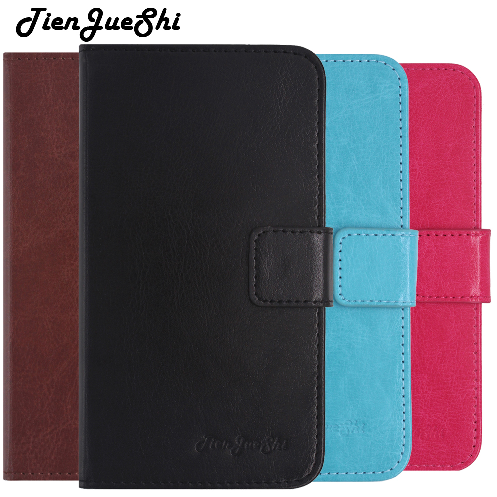 TienJueShi Flip Book Stand Design Protect Leather Cover Shell Wallet Etui Skin Case For Echo Flow Holi Stellar 4G