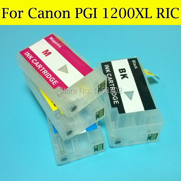 ФОТО For Canon PGI1200XL Ink Catridge compatible for Canon MAXIFY MB2020 MB2320 whit auto reset chips