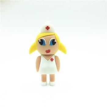 Fashion Carton sexy Nurse Pen Drive Pendrives 4GB 8GB 16GB 32GB 64GB Usb Flash Drive U Disk Flash Card Memory stick gift girl