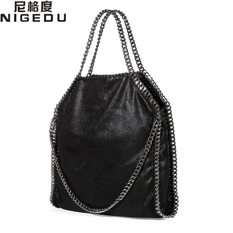 NIGEDU Women Bag PU Leather Fashion Chain Women's Messenger Shoulder Bags Bolsa Feminina Carteras Mujer handbags Women's Totes 2017 fashion all match retro split leather women bag top grade small shoulder bags multilayer mini chain women messenger bags