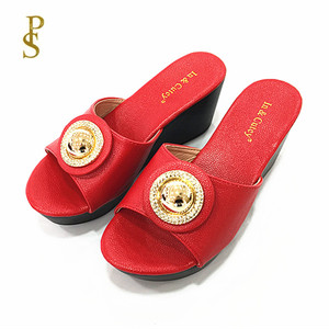 Image 4 - Talon compensé chaussures à semelle en polyuréthane femmes à talons hauts