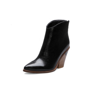 Image 2 - MORAZORA 2020 big size 44 women ankle boots pointed toe Snake zip high heels boots fashion autumn dress party shoes woman