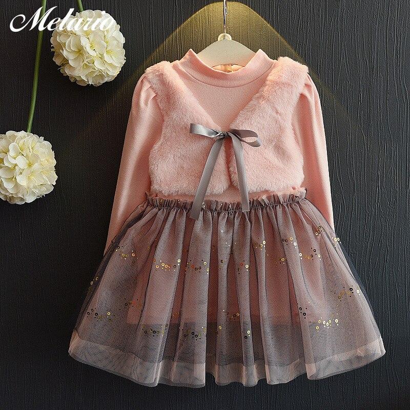 Sodawn 2018 Frühling Neue Kinder Clohting Marke Neck Spitze Bogen Design Spitze Mode Prinzessin Kleid Baby Mädchen Kleid Mädchen Kleidung Die Neueste Mode Mädchen Kleidung