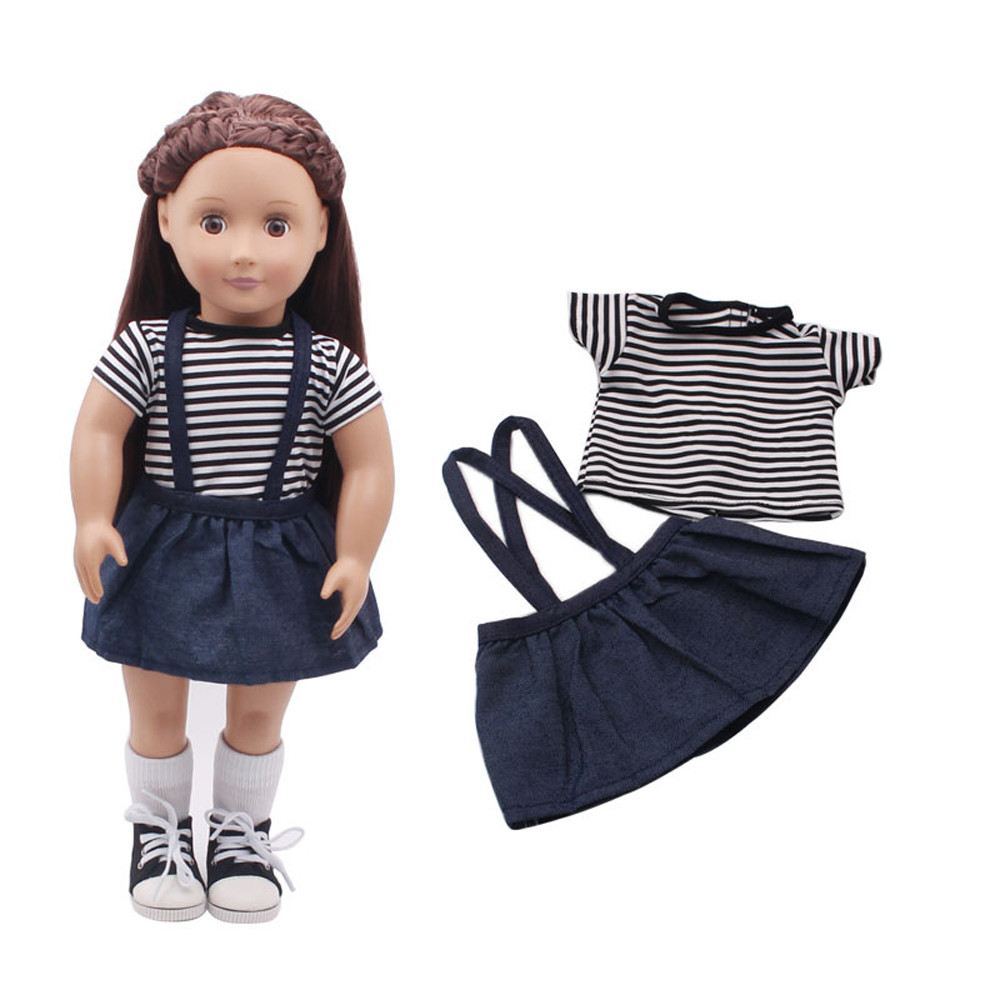Doll Clothes Dress Outfit Clothes Set For 18'' American Girl Our Generation Doll american girl doll clothes halloween witch dress cosplay costume for 16 18 inches doll alexander dress doll accessories x 68