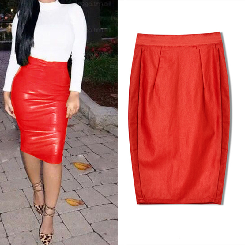 Stretch Leather Skirt Promotion-Shop for Promotional Stretch ...