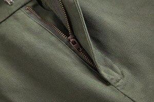 Image 4 - 2019 Moda Kadın Ordu Yeşil Pantolon Yüksek Bel Pantolon Joggers Kadınlar Kargo Pantolon Kadın Ayak Bileği Uzunluğu Pantolon Kadın Pantolon