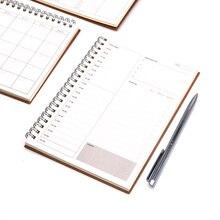 Дневник еженедельник блокнот Caderno Agenda Libretas записная книжка из крафт-бумаги записные книжки Filofax a5 спираль