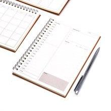 Caderno agenda 2020 2019 libretas note livro de cadernos, diário planejador semanal livro de recortes em papel espiral