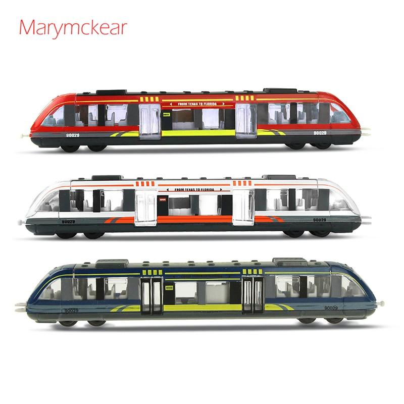 1 шт. Высокоскоростная Модель железнодорожной машины, литой под давлением, детские игрушки, игрушечный автомобиль из сплава, модель мини-маш...