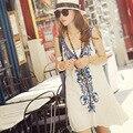 2016 весна лето новый горячий вышивки dress бесплатная доставка женская сексуальная элегантный короткие dress людей высокое качество спинки платья