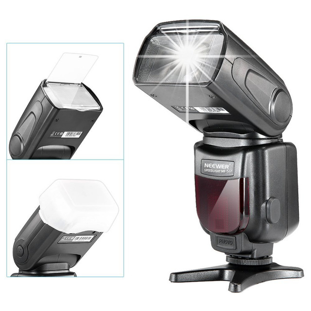 Neewer NW-561 LCD Display Speedlite Flash for Canon 6D/60D/700D/Nikon D7100/D90/D7000/Other DSLR Cameras with Standard Hot Shoe