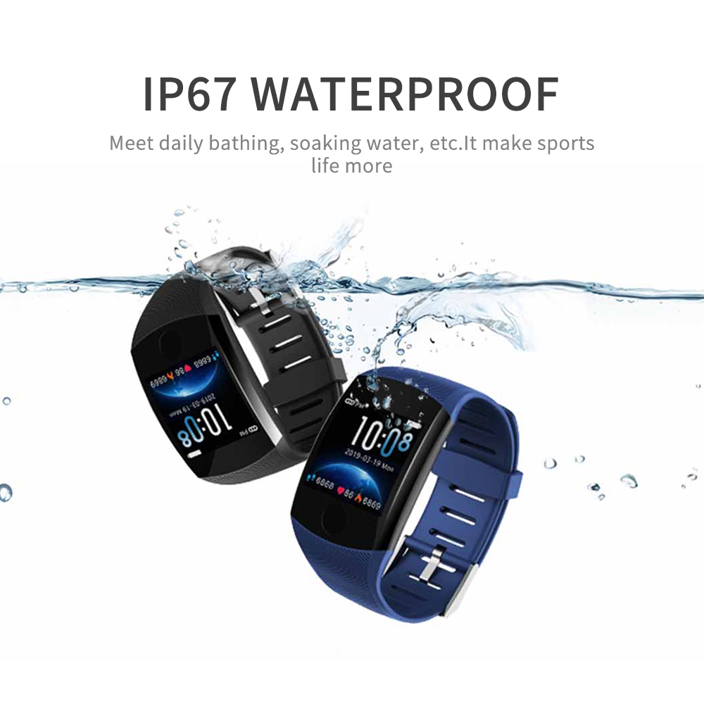 LOKMAT Bluetooth Smart Band Heart rate Blood Pressure Pedometer Waterproof Fitness Tracker Smart Bracelet for men