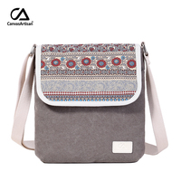 Canvasartisan Brand New Women Shoulder Bag Canvas Reteo Messenger Bag Floral Printing Style Female Daily Travel