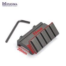 Mizugiwa trilho de escopo de 20mm, ângulo deslocado com 45 graus para montagem de armas, picatinny e armas de caça
