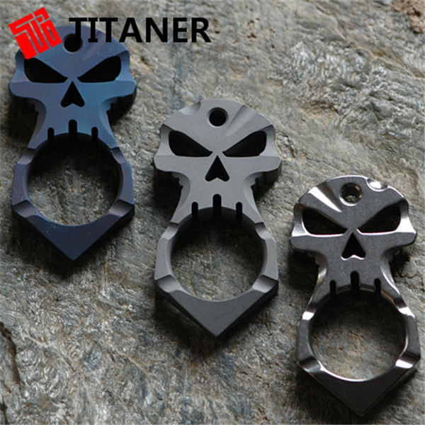 ФОТО HOT!!!Titaner Titanium SKUll Carabiner Bulk Mini Key Chain Quick Release Clip Split Ring Outdoor Camping Gear Buckle Travel Kits