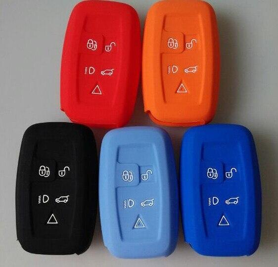 Housse de clé en Silicone | Housse de clé à distance intelligente adaptée à LR4 L et Ro ver Disco-très 4 couleurs mélangées achat style de voiture