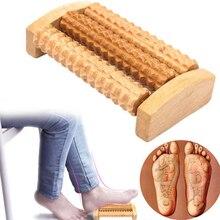 Drewniana rolka do masażu stóp masaż stóp podeszwowa Fasciitis Roller refleksologia
