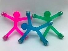 Translucent Jelly Bendable Magnet Men Q-Man Qman Kids Novelty Toy/Fridge Refrigerator Magnetic Sticker Figures/Office Paper Clip