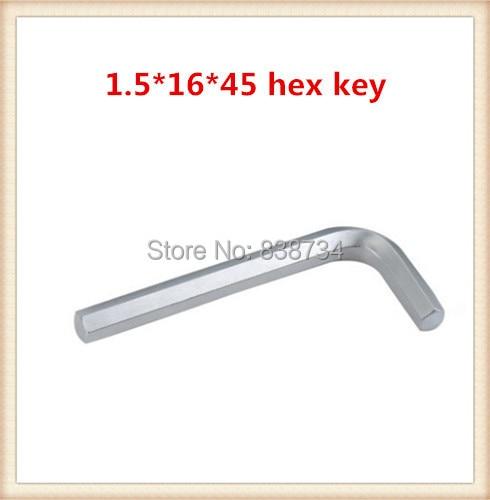 szénacél nikkelezett, 1,5 mm * 45-ös hex-alkulcs (100 db / tétel)