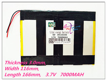 30116166 Tablet battery capacity 30115165 3 7V 7000MAH Universal Li ion battery for tablet pc 8