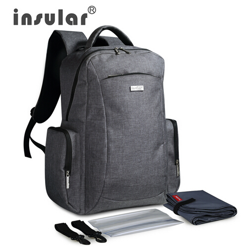 ФОТО New Style Multifunctional Large Capacity Baby Diaper Bag Backpack Mommy Bag Nappy Bag Backpack Include Plastic Napkin Box