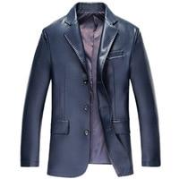 2019 New Arrival Fashion Brand Suit PU Jacket for Men Suit Jackets Men Casual Dress Suits Blazer Men Leather Jackets SA 9