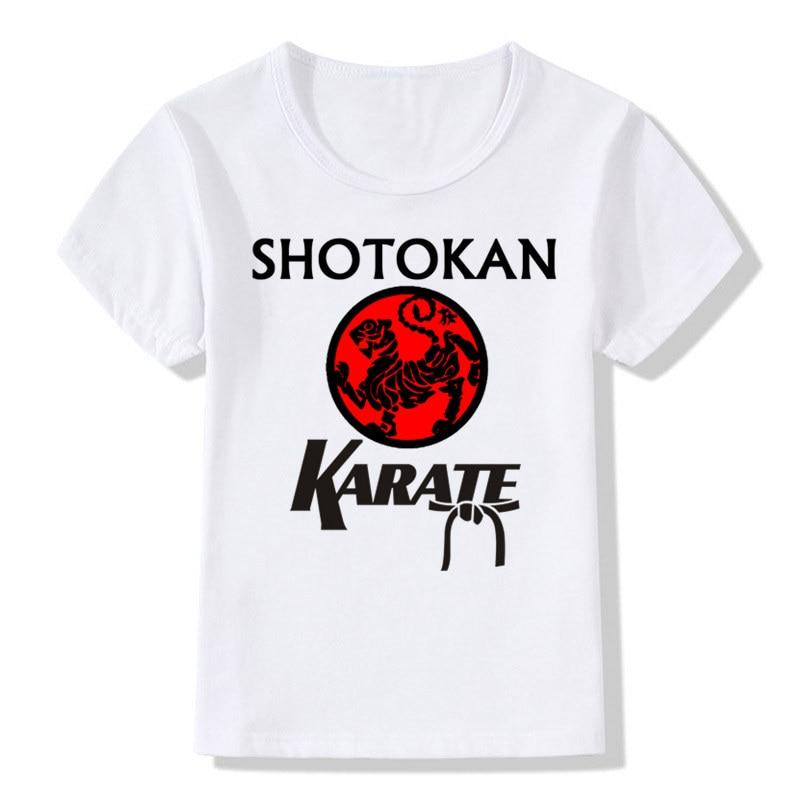 Boys&Girls Print Japanese Kanji Shotokan Karate T-shirt Children Anime Summer T shirt Kids Tops Baby Clothes,HKP718 the shotokan karate bible 2nd edition