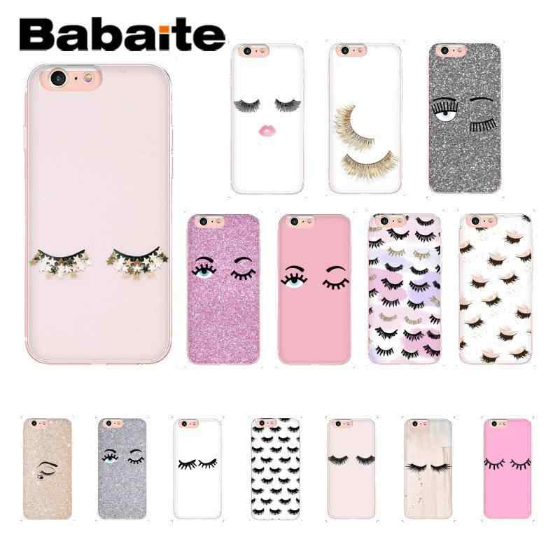 Babaite eye wink with glitter eye lashes Customer Phone Case for iPhone X XS MAX 6 6S 7 7plus 8 8Plus 5 5S XR 11 11pro 11promax