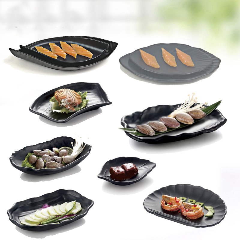 Hot Pot Dinnerware Stewed Beef Meatballs cold dish Dinner Plate Frost Originality Plate Japanese Sushi A5 Melamine Tableware in Dishes Plates from Home Garden