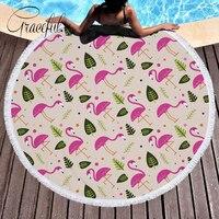 Pink Cartoon Animal Flamingos Printed Bikini Cover Up 2018 Summer Beach Cover Up Pareo Praia Beach