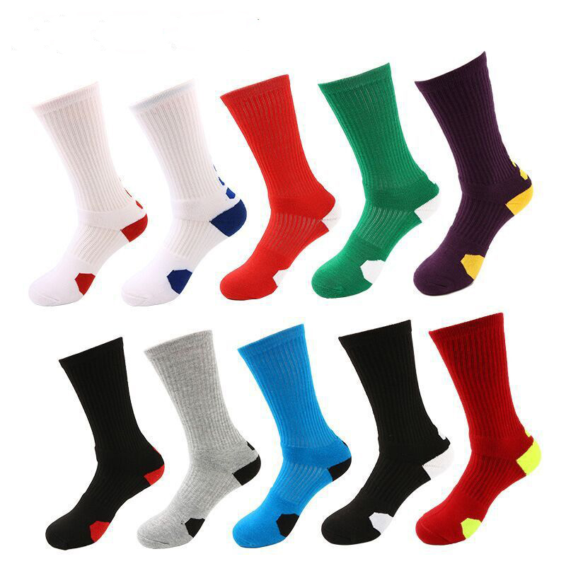 Men's high-top sports socks, sweat-absorbent, non-slip shock-absorbing socks, terry, comfortable men's socks