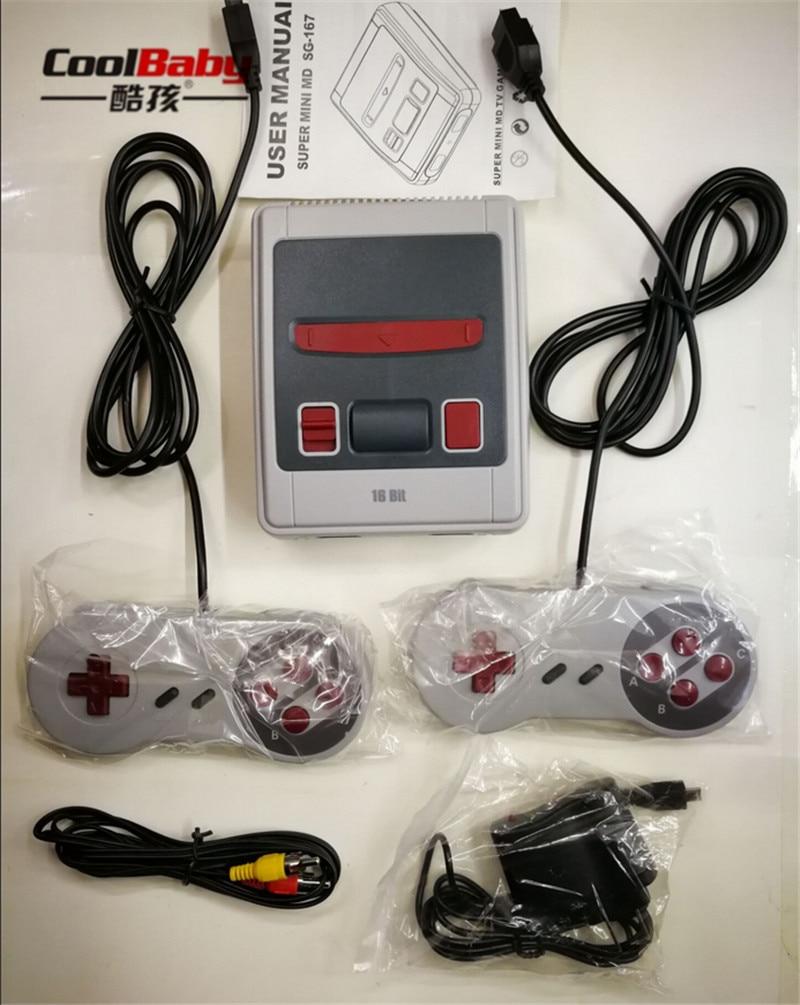Unterhaltungselektronik Kenntnisreich Dhl Coolbaby Neue Md16 Sg-167 Av Version Für 16 Bit Tv Videospiel-konsole Für Spielkonsole Mit Freies 167 Sega Spiele Videospiele