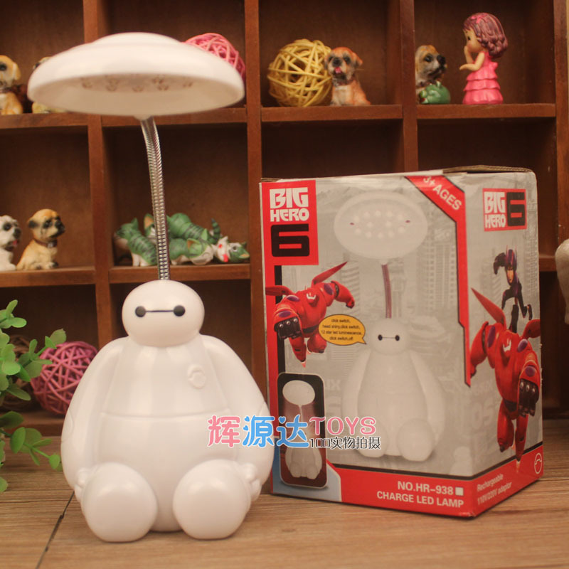 Feimefeiyou Table two eye Nightlight children charging LED LAMP SUPER Corps night lamp charging Big Hero 6 Baymax led light white rotating rechargeable led talbe lamp usb micro charging eye protection night light dimmerable bedsides luminaria de mesa