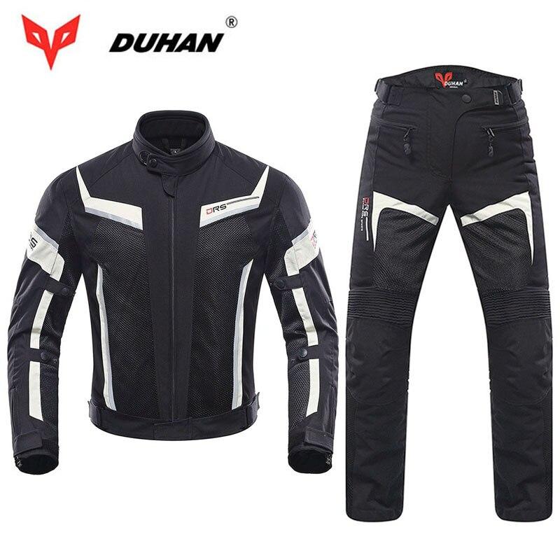 DUHAN, Мужская мотоциклетная куртка, профессиональные штаны для мотокросса, весна лето, дышащая сетка, 5 шт., куртки, защита, 2 шт., штаны, наколен