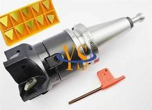 New BT40 M16 FMB27 60L + face end mill TP22-80-27-4T +10pcs Triangle TPKN2204 carbide insert CNC Mill