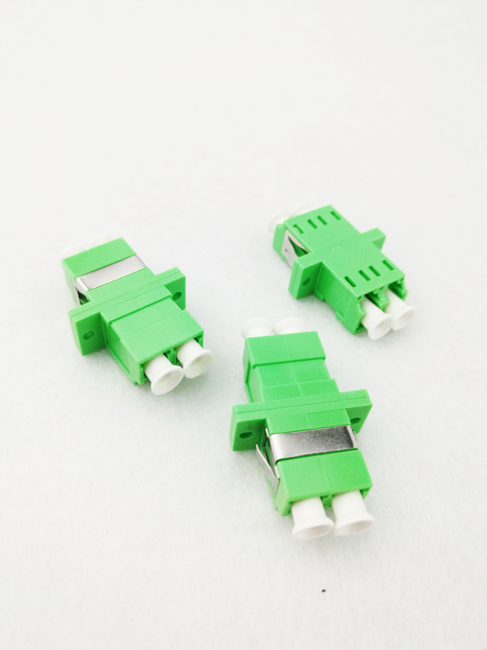 100pcs LC-APC SM DX Fiber coupler Adaptor LC APC connector Fiber Optical flange Adapter100pcs LC-APC SM DX Fiber coupler Adaptor LC APC connector Fiber Optical flange Adapter