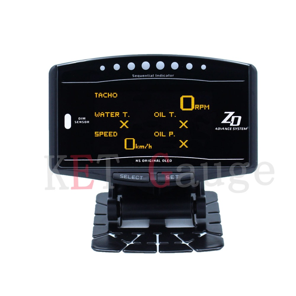 Universal Auto gauge 10in1 New Version OLED DEFI Advance ZD Link Meter Digital Tachometer volt speed water temp oil press boost quality assurance hot selling internal grooving and turning tool holder mgivl3125 5 mgivr3125 5 for carbide insert mgmn500 m